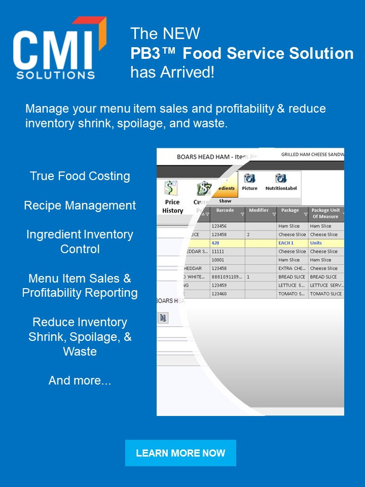 The NEW PB3 Food Service Solution has arrived!